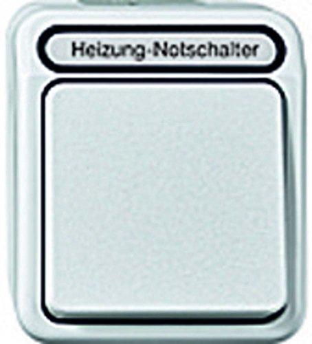 Merten MEG3448-8019 Noodschakelaar voor verwarming, uit/wissel, 1-polig met ko.licht, poolwit, AQUASTAR