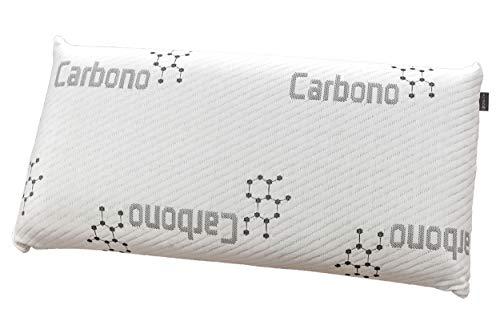 DHestia - Almohada Viscoelástica Carbono Activo Anti Malos Olores y Anti Humedades Doble Funda ViscoActive. (135 cm)