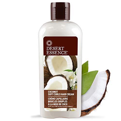 Desert Essence - Crema para el cabello rizos suaves con coco - 190mL