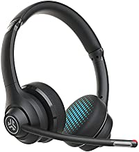JLab Go Work Wireless On-Ear Headphones with Boom Mic | Bluetooth or Wired Office Headset | Multipoint Connect | 45+ Hours Playtime | Clear Calls and Video Calls Using Your Computer or Mobile Device