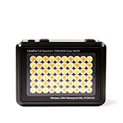 """COMPACT: Only 6 oz in weight and under 3"""" in length COLOR TEMPERATURE: 3000-6000K adjustable color temperature OUTPUT: 1200 lumen output, 95 CRI and 70-degree beam angle CONTROL: Bluetooth control and up to 10+ hours run time PACKAGE INCLUDES: Dome d..."""