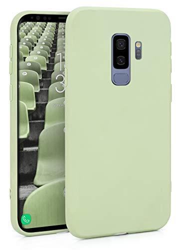 MyGadget Funda Slim en Silicona TPU para Samsung Galaxy S9 Plus - Anti Polvo - Carcasa Mate Protectora Ultra Delgada 1mm Suave Cómoda y Ligera - Verde Menta