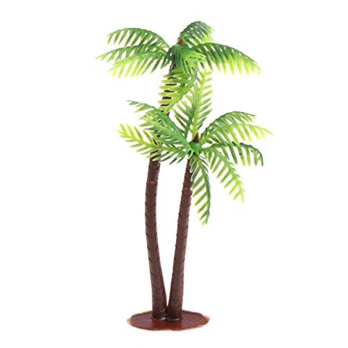 Nankod 1/3/5 Stück Mini Green Landschaft Landschaft Modell Green Coconut Baumschmuck für Aquarium oder Indoor-Brunnen (1)