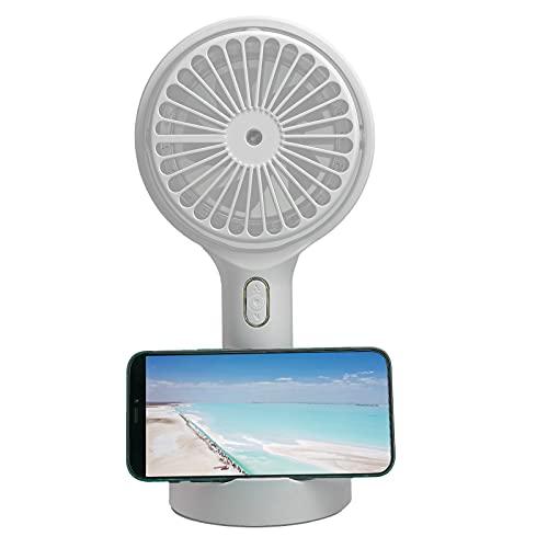 Lazimin Ventilador de Escritorio, 4-6W Mini portátil con Carga USB, lámpara de Noche, humidificación en Aerosol, Ventilador de enfriamiento, con Base Fija, para Viajes al Aire Libre