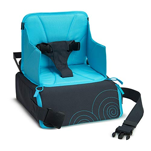Munchkin Brica GoBoost Travel Booster Seat, Blue/Grey