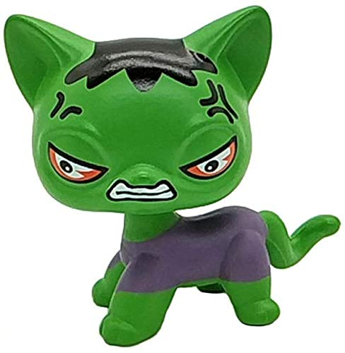 N/N Littlest Pet Shop, LPS Toy Small pet Shop customizes The Super Hero Image of LPS cat