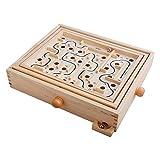 Toyvian Juego de Madera Maze Puzzle Varita Laberinto Juego Juguete para niños Juguete Educativo para niños niñas Adultos