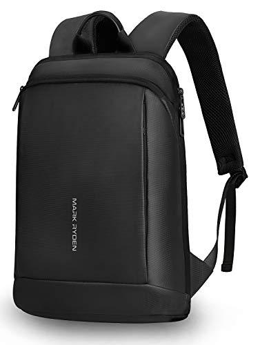 Mark Ryden Ultra dünn Rucksack Wasserdicht(0.75kg),Laptop Rucksack 15.6 Zoll,Schlanker Business-Rucksack,Reise Rucksack für Schule, Arbeit-schwarz