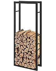 Stalen brandhoutrek houtopslag zwart - verschillende maten
