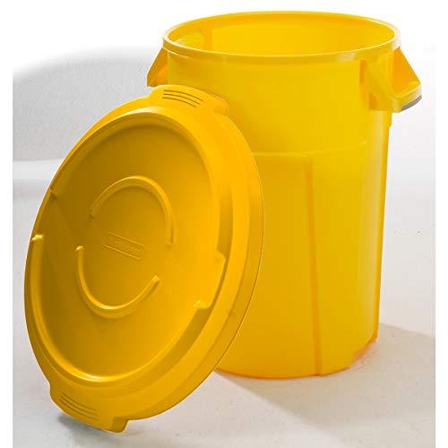 Conteneur multi-fonctions en plastique - capacité 85 l, revêtement qualité alimentaire - jaune - collecteur de déchets collecteur de tri collecteurs de tri conteneur multi-usages poubelle poubelle de tri poubelle à ordures poubelles de tri Collecteur de