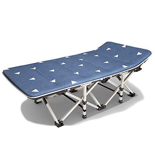 YXQ Four Seasons Klappbett - Einzelbett, Nickerchenbett, 200 kg Belastung, Campingbett (190 cm) (Farbe : Blau)