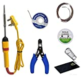 Generic 6 in1 Electric Soldering Iron Stand Tool Wire Stripper Kit 25 Watt