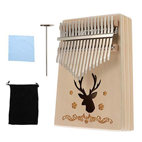 HEALLILY 17 Schlüssel Daumen Klavier Holz Leistung Tragbare Mbira Finger Klavier Geschenke für Kinder Erwachsene Anfänger Musikinstrument Werkzeuge