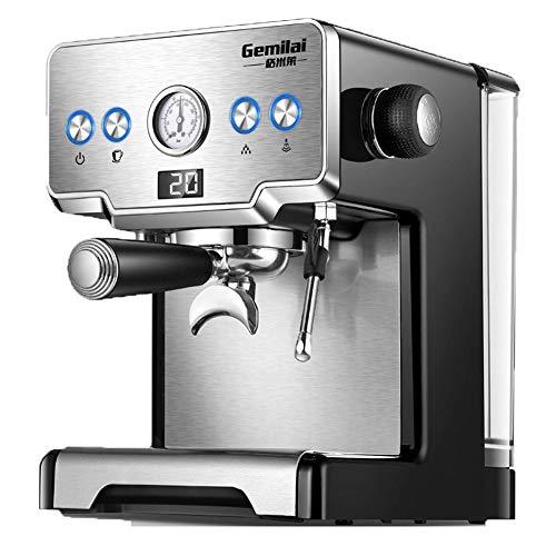 Máquina de café, máquina de café de filtro, máquina de leche multifuncional para café expreso y capuchino, 1450W, oficina en el hogar
