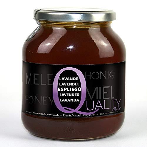 Miel pura de abeja 100%. Miel cruda de Espliego. 1 Kg. Producida en España. Sin pasteurizar ni calentar. Artesana de alta calidad. Tarro de cristal. Gran variedad de exquisitos sabores.