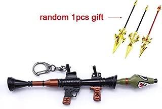 mankecheng Games Metal 1/6 Metal Shark Rocket Launcher Gun Model Figure Arts Toys Collection Keychain Gift