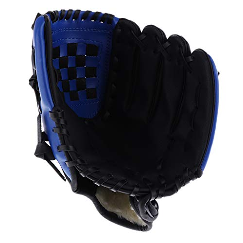 Sports Teeball Glove - Left Handed Youth/Adult/Kids Fielding Glove - PU Leather Baseball Glove - Multiple Colors & Sizes - Black, 11.5 inch