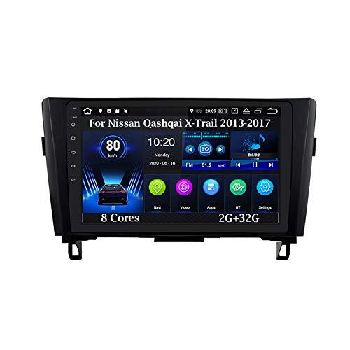 Android - Radio de coche con pantalla táctil para Nissan Qashqai X-Trail 2013-2017, 8 núcleos 2G+32G, accesorios de coche multimedia, control de volante con navegación Plug and Play