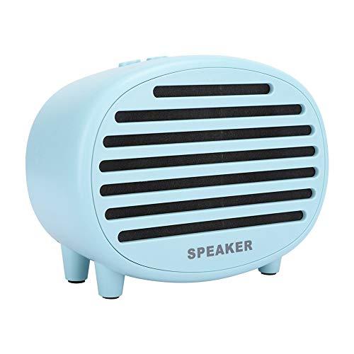 Altavoz Bluetooth inalámbrico, Altavoz de Sonido Ligero, Altavoz de Audio portátil, función de Llamada/Tarjeta de Memoria/AUX/USB/FM, Mini Altavoz de subgraves pequeño, para PC, teléfono(Azul)
