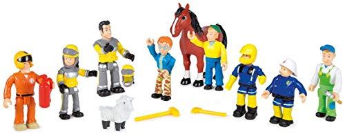 Smoby Toys- 109251023002- Sam el Bombero, Caja con 10Figuras