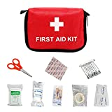 Rubyu Juego de primeros auxilios para exteriores, esencial, ultraligero, portátil, resistente al agua, bolsa de emergencia, para camping, ciclismo, escalada, senderismo