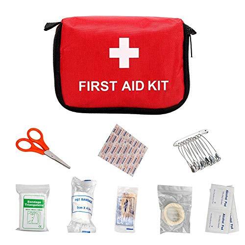 Evenlyao Mini-Erste-Hilfe-Set Reise, 9-teiliges Erste-Hilfe-Set Reise, Mini-Erste-Hilfe-Set Medizinischer Beutel Notfall-Set Tasche Reise-Startseite Kleines Erste-Hilfe-Set