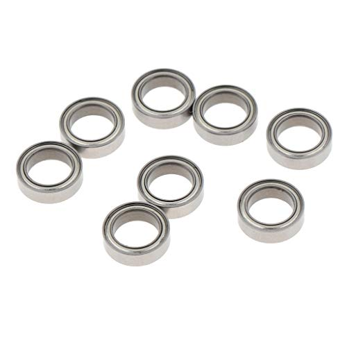 Flameer 8 Pieces RC Car Ball Bearing Set for HG-P407 HG-P801 P802 1/10 RC Pickup Military Buggy Crawler Car Truck