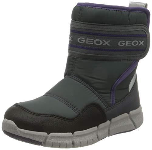 Geox J FLEXYPER Girl B AB Snow Boot, Grey (Grey/Purple), 38 EU