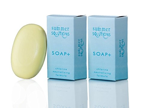 Summer Solutions - Chlorine Neutralizing and Odor Removing Soap Bar - 3.5 oz (2 Pack)