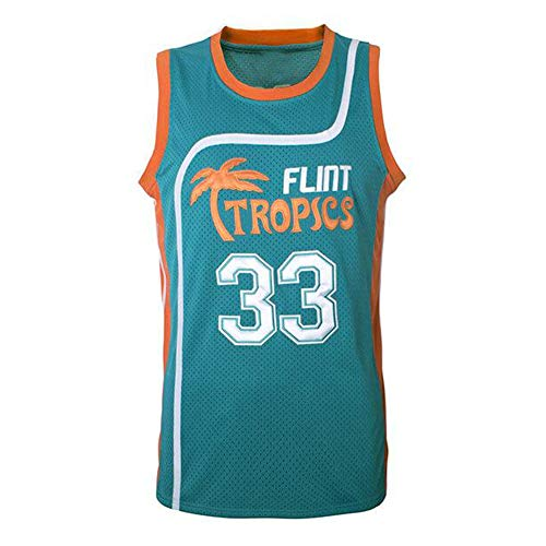 oldtimetown Flint Tropics Basketball Jersey #33 Jackie Moon Stitched Letters and Numbers S-XXXL
