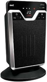 EWT HOMEO 2T Calentador de ventilador Interior Negro, Plata 2000 W - Calefactor (Calentador de ventilador, Interior, Piso, Negro, Plata, LED, 2000 W)