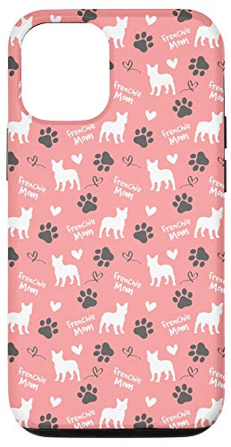 iPhone 12/12 Pro Frenchie Mom French Bulldog Mom Pink Women Gift Case