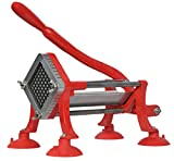 VIVO Commercial Grade Red 1/2 inch French Fry Cutter with Suction Feet, Potato Slicer, 1/2 inch Blade (CUTR-F12)