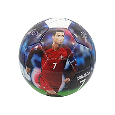 Superstar Soccer Ball Size 5 Best Gift for Soccer Training | Cristiano Ronaldo Portugal Juventus CR7 | Leo Messi Barcelona | Neymar Jr Brazil | Italy | England | USA