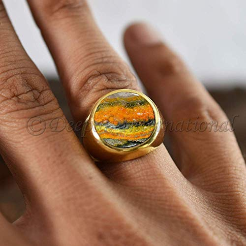 Ladies Jasper Ring 1228 Under 75 Sterling Silver Jasper Womens Jasper Ring Bumble Bee Jasper Ring 925 Bumble Bee Jasper Jewelry