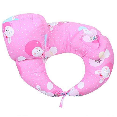 Cuscino per allattamento a forma di U, cuscino per supporto neonato Cuscino per vita in cotone per allattamento al seno, rosa(Rosa)