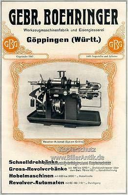 Kunstdruck Gebr. Boehringer Göppingen Drehbänke Revolverbänke Plakat Motor A3 050