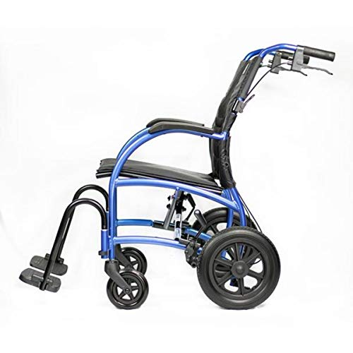 Strongback Mobility Excursion Lightweight Foldable Wheelchair, Built-in Adjustable Lumbar Support, Promotes a Healthy Spine, with Attendant Brakes, 18 Inch Seat Width, 2.0 Model