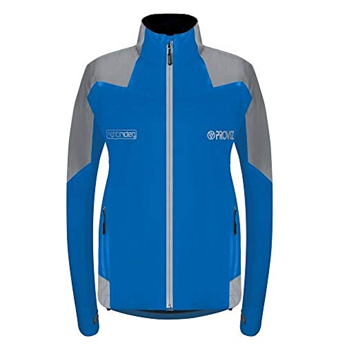 Proviz Damen Nightrider – 2 – Fahrradjacke – Blau – Damen – UK 14/US 10/EUR 42