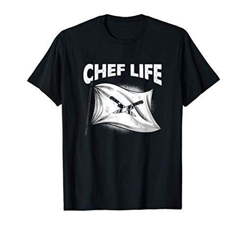 Funny Kitchen Cook Chef Knife Flag Cooking Enthusiast T-Shirt
