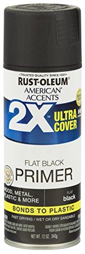 Rust-Oleum 327911 American Accents Spray Paint, 12 Oz, Black Primer