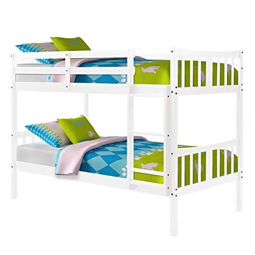 Ianqujiangxinqujianjunbaih Thuis Bed Stapelbed Kinderen Slaapkamer Twin Over Twin Stapelbed Houten Tweepersoonsbed Met Ladder Voor Volwassenen Kinderen Tieners
