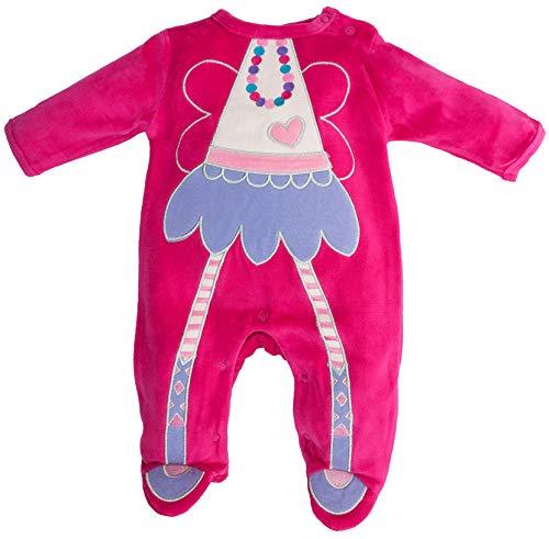 Rock a Bye Baby - Baby Mädchen Schlafstrampler Schlafanzug aus Nicki Gr. 68 (3-6 Monate)