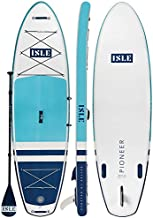 ISLE Pioneer Inflatable Stand Up Paddleboard & iSUP Bundle Accessories & Backpack — Wide Stance, Durable, Lightweight — 285 lbs Capacity (Teal Blue, 10'6