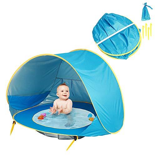 Tienda de campaña plegable para niños y bebés, con protección UV automática, para piscina, playa, portátil, resistente al agua, toldo para la familia, jardín, camping, picnic