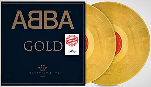 """ABBA """"Gold"""" (Greatest Hits) - Exclusive Limited Edition 180 Gram Gold Colored 2 Vinyl LP Set Gate Fold Cover w/ Stickers as Shown - Brand New Factory Sealed"""