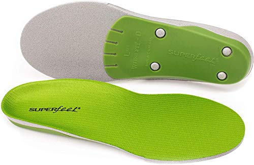 Superfeet wideGREEN High Arch Orthotic Insoles for Wide Feet Extra Wide Shoes, Unisex, Green, Large/E: 10.5-12 Wmns/9.5-11 Mens