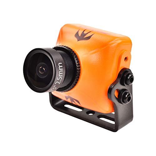 HELEISH RunCam Swift 2 CCD 600TVL NTSC Mini caméra FOV 130/150/165 IR Bloqué w/OSD MIC for FPV RC Drone Pièces d'assemblage de bricolage (Color : Orange 2.1mm)