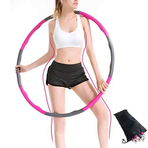 WOWDSGN Hula Hoop Reifen, Reifen mit Schaumstoff, wellenförmig Design, 8 abnehmbare Teile, Gymnastikreifen zum Abnehmen, Fitness, Massage, Mit Mini Bandmaß Ca. 1kg