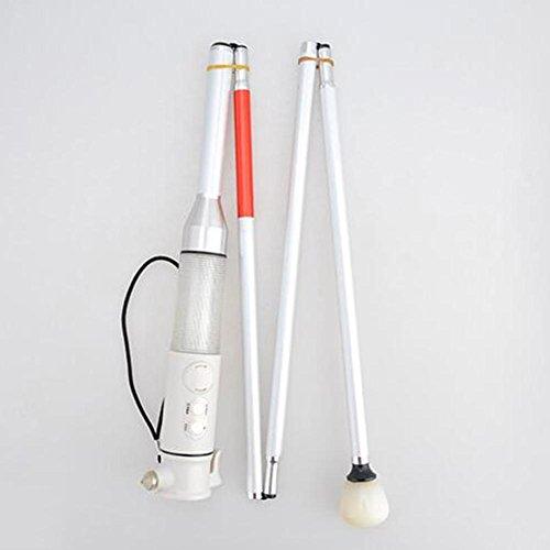 LPY-Multifonction Canne pliante Alliage d'aluminium Béquilles,Canne de Marche Convient pour les malvoyants et les aveugles Alarme intégrée